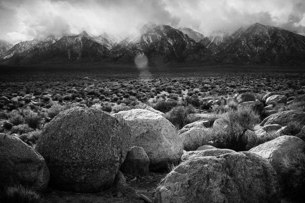 Mount Williamson, Manzanar, Elizabeth Hahn Photography, Black & White Photography, Mountains, Rocks, Dramatic Light