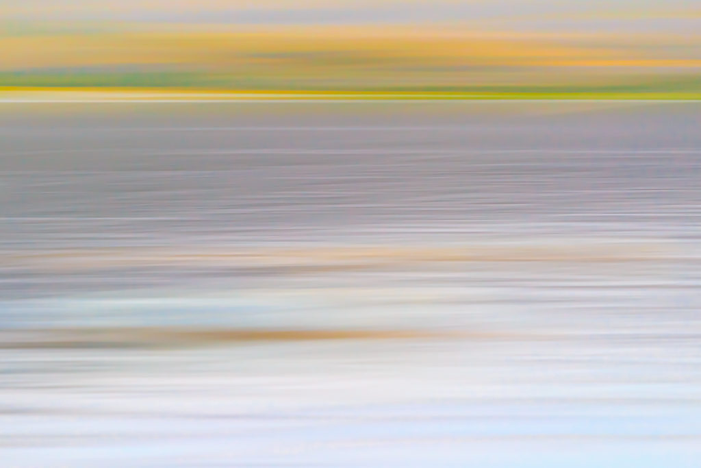 ICM Sunrise at Mono Lake, California, Intentional Camera Movement, Abstract, Mono County