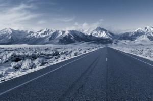 Eastern Sierra Nevada, Mammoth, Owen's River Valley, Snow, Winter